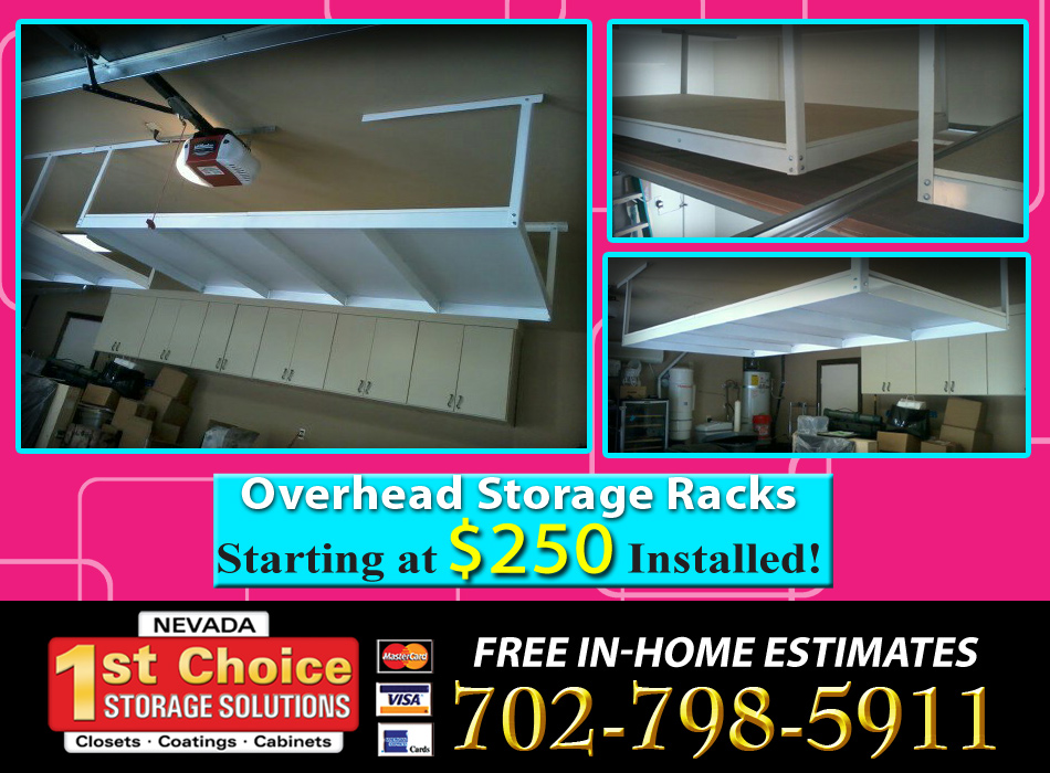Overhead Storage Racks Las Vegas Garage Storage Racks